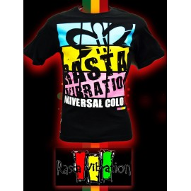 Tee shirt MC-Rasta vibration screens- Noir