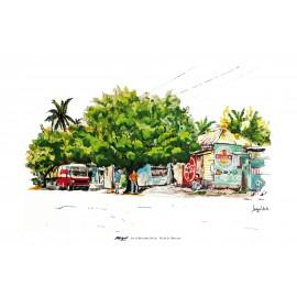 Poster 50x70 Boutique à St Leu par Miguel