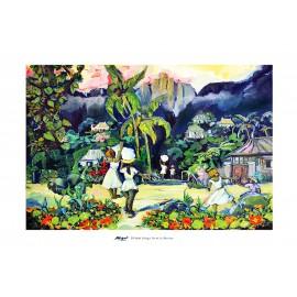 Poster Ile de La Réunion 50x70 Salazie par Miguel