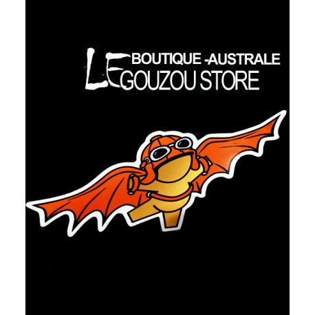 Sticker du gouzou de Jace:  Le Gouzou pionnier de l'aviation