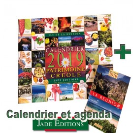 Calendrier 2019 patrimoine Créole de chez Jade éditions avec agenda
