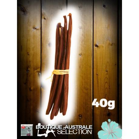 Vanille Bourbon 40 grs 1er choix moelleuse  gousses 18 cm