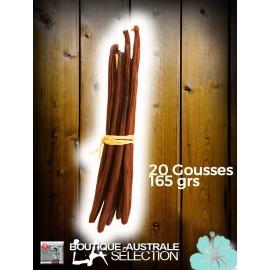 Vanille Bourbon 160- 170 grs 1er choix longue moelleuse gousses 18 cm