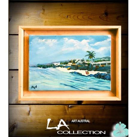 Huile sur toile. Saint Leu. Par Miguel. La Réunion.
