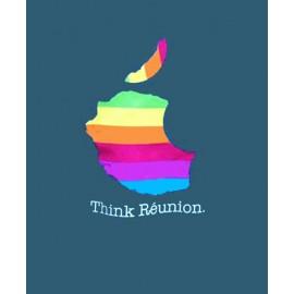 """Tee-shirt Bourbon Palto """"THINK REUNION"""". Ile de La Réunion"""