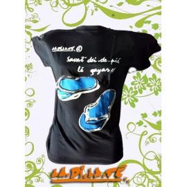 """Tee shirt """"Komérage"""" savates deux doigts"""