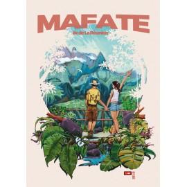 Affiche Ile de La Réunion: MAFATE. Illustration Miguel