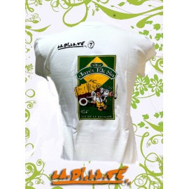 "Tee shirt ""Komérage"" Rhum Charette Blanc reste 3 S et 1M"