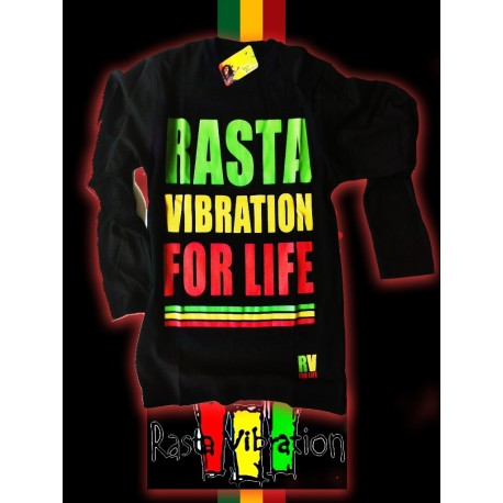 Tee shirt ML-Rasta vibration for life-