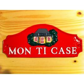"""Plaques décoratives """"Mon Ti case"""" rouge"""