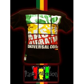 Tee shirt MC-Rasta vibration screens. Promo reste un XL