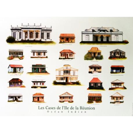 Les posters cases créoles de La Réunion Jade