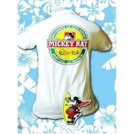 Tee-shirt Mickey Rat Mickey Blanc