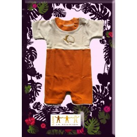 Combi short Kaniki bicolor orange