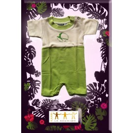 Combi short Kaniki bicolor vert