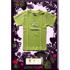 "Tee shirt Kaniki vert ""paille en queue"""