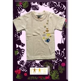 "Tee shirt Kaniki beige ""poisson du lagon"""