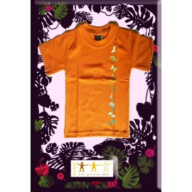 "Tee shirt Kaniki Orange ""Lé o et lé ba"""