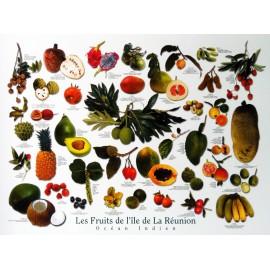 Les posters tropicaux des fruits de La Réunion, Jade Editions.