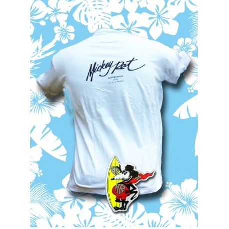 Tee-shirt Mickey Rat blanc, Mickey Signature