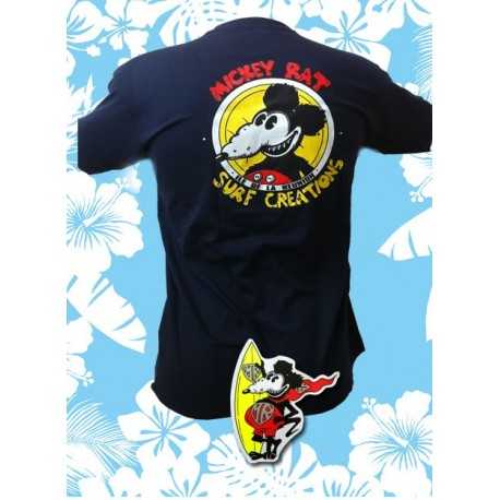 Tee-shirt Mickey Rat bleu marine