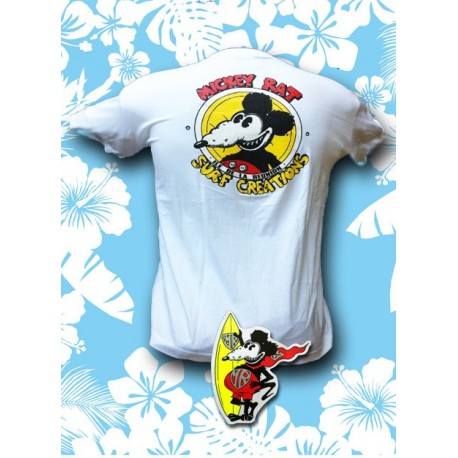 Tee-shirt Mickey Rat banc