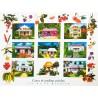 Les posters cases et jardins créoles de La Réunion Jade