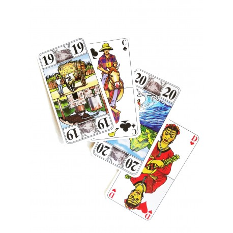 Tarot Bourbon:Cartes de tarots de collection illustration Reunion