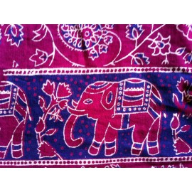 Porte bébé hamac éléphant rouge