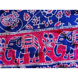 Porte bébé hamac éléphant bleu