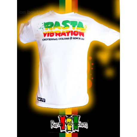Tee shirt Rasta vibration Roots since 1998