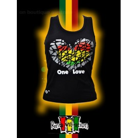 Top femme rasta vibration hearth.