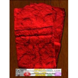 Les broderies ajourées rouges, Les nappes romantiques