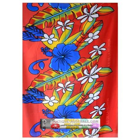 Paréo île de La Réunion 1er prix hibiscus orange