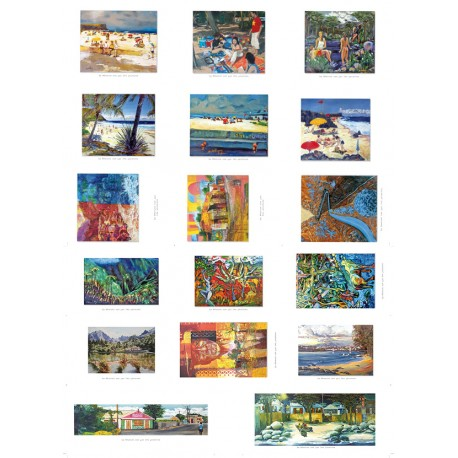 """Pochette 17 cartes: """"La Réunion vue par les peintres"""""""