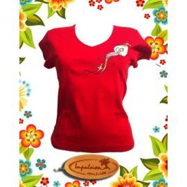 Tee-shirt Impulsion femme rouge impresssion