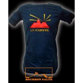 "Tee-shirt Bourbon Palto ""La Fournaise""."