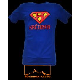 "Tee-shirt Bourbon Palto ""Kréolman""."