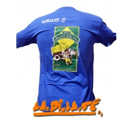 "Tee shirt ""Komérage"" Rhum Charette Bleu Roi"