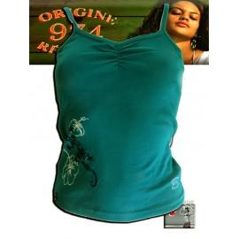Débardeur Origine Réunion femme Turquoise foncé visuel Magouillats