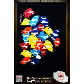 """Paréo Kari Ile de La Réunion: motif """"Poissons clowns"""""""