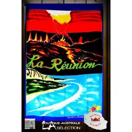 """Paréo Kari Ile de La Réunion: motif """"Volcan Réunion"""""""